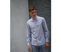 Hemd Slim Fit aus leichtem Baumwoll-Fischgrat
