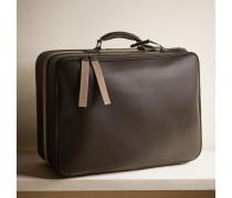 Koffer aus mattem Kalbsleder mit Schmuckstreifen