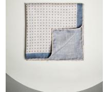 Einstecktuch aus Seide mit Punkten und Bordüre