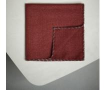 Einstecktuch aus Wollflanell mit Stickerei