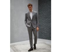 Anzug in Grisaille aus Kaschmir und Seide