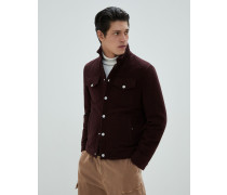 Jacke aus Fleece in Wolle und Kaschmir