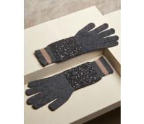 Strickhandschuhe aus Kaschmir und Diamant-Seide
