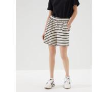 Shorts aus gestreiftem Sweatjersey mit Monili