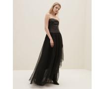 Kleid aus Soft-Nappaleder und Crispy-Seide