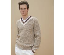 Geknöpfter Pullover