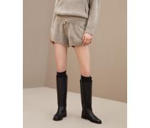 Shorts aus Kaschmir und Cosy Sparkling-Seide