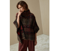 """Pullover im Poncho-Stil in """"Jacquard Dazzling Tartan"""""""