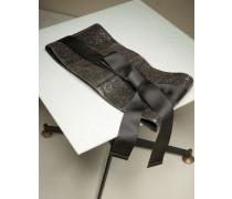 Obi-Gürtel aus glasiertem Leder