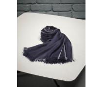 Schal aus Kaschmir und Seide mit Webkante