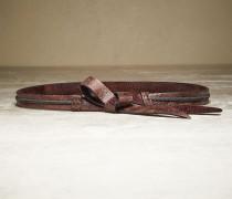 Gürtel Shiny & Bow aus Krakelee-Leder