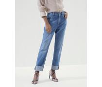 Hose Straight Leg aus Soft-Denim