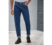 Five-Pocket-Hose Traditional Fit aus Denim
