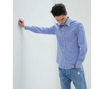 Hemd in Slim Fit aus Popeline in Vichykaro