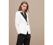 Blazer aus Couture-Gabardine in Techno-Schurwolle
