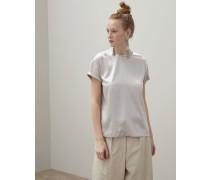 T-Shirt aus Stretch-Seidensatin mit Monili