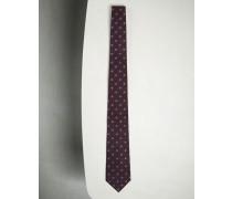 Krawatte aus Seide mit floralem Muster