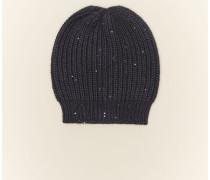 Mütze aus Kaschmir und Diamant-Seide
