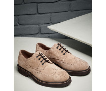 "Fullbrogue-Derby ""Casual"" aus Veloursleder"