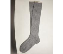 Socken aus Kaschmir in Rippenstrick