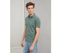 Polo Slim Fit aus Baumwollpikee mit Hemdkragen