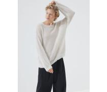 Pullover Sparkling Mesh aus Mohair und Schurwolle