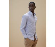 Hemd in Slim Fit aus dünnem gestreiftem Twill