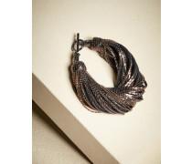 Armband aus Glasur-Leder und Monili