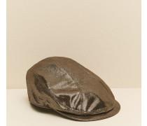 Mütze aus Sparkling-Nappaleder