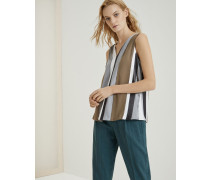 Top Shiny Intarsia Stripes