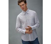 Hemd Slim Fit aus Popeline in schmalem Streifen