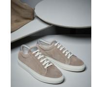 Sneakers aus gewaschenem Veloursleder
