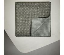 Einstecktuch aus Seide mit Punkten und Saum