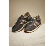 Sneakers aus Techno-Taft und Veloursleder