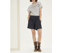 Baggy-Shorts aus Dark Polished Denim