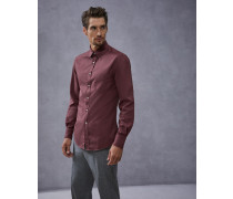 Hemd Slim Fit aus Gabardine in Stückfärbung