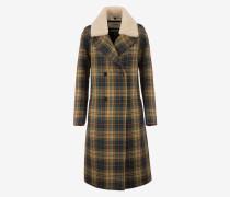 Zweireihiger Mantel Mit Karomuster Mehrfarbig