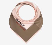Quadratischer Schal Mit Racing-Print Rosa