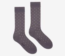 Kurze Gepunktete Socken Grau