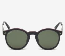 Hype Sonnenbrille Mit Rundem Rahmen Schwarz