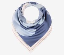Seidenschal Mit Printdesign Blau