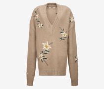 Pullover Mit Gebirgsblumen-Design Braun