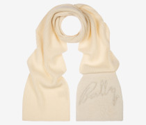 Shearling Detailed Scarf Weiß 1