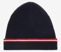 Beanie-Mütze Mit Bally-Streifen Blau
