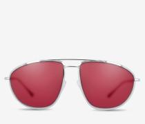 Tropfenförmige Pilotensonnenbrille Metallisch