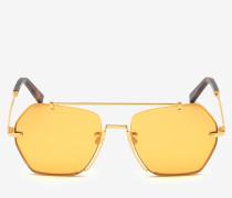 Geometrische Cruz Sonnenbrille Gelb 1