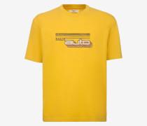 T-Shirt Mit Bally Auto-Print Gelb