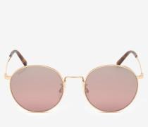 Abgerundete Palm Sonnenbrille Rosa 1
