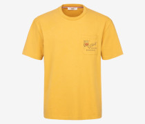 Cf Bally T-Shirt Mit Aufnäher Orange