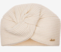 Knotted Beanie Hat WeiB